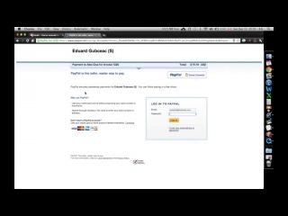 Оплата посылки через платёжную систему PayPal.